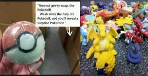 make pokeball soap with pokemon inside
